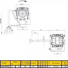 MOTOR VENTILADOR 103M-3030 35/115W 3 VELOCIDA