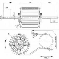MOTOR VENTILADOR 123B-8600/5 600W/1080W
