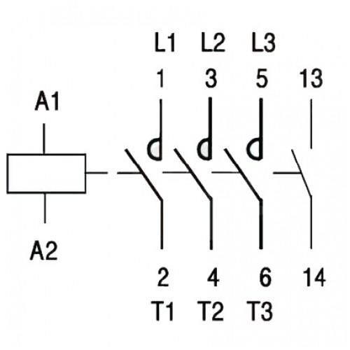 contactor tripolar 230v 20amp 6kv